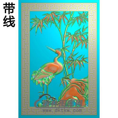 竹子鹤精雕图(ZZ-308)