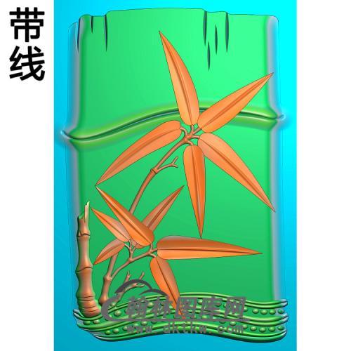 竹子砚台精雕图(ZZ-317)