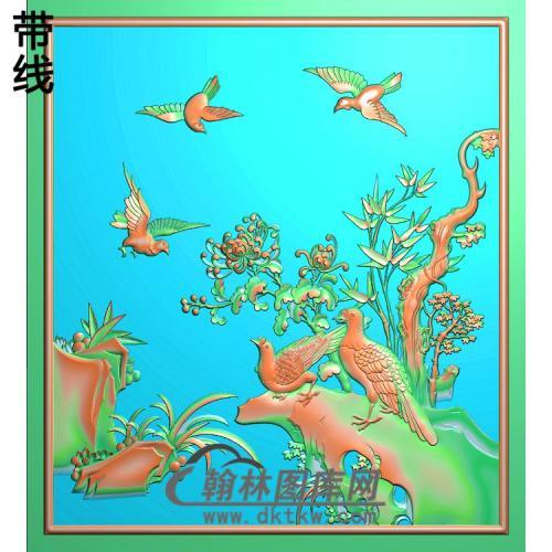 上门菊花精雕图 (JH-281)
