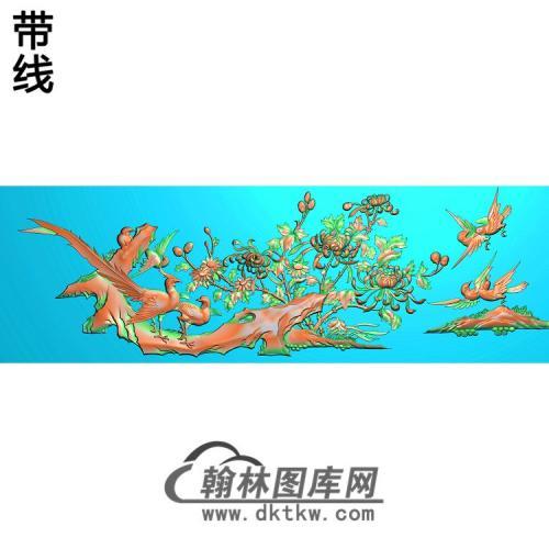 FS-002-百鸟罗汉床扶手     鸟(JH-232)