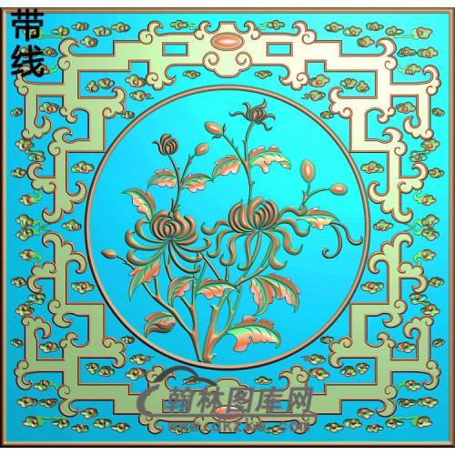 对橱上方板-菊花(JH-248)