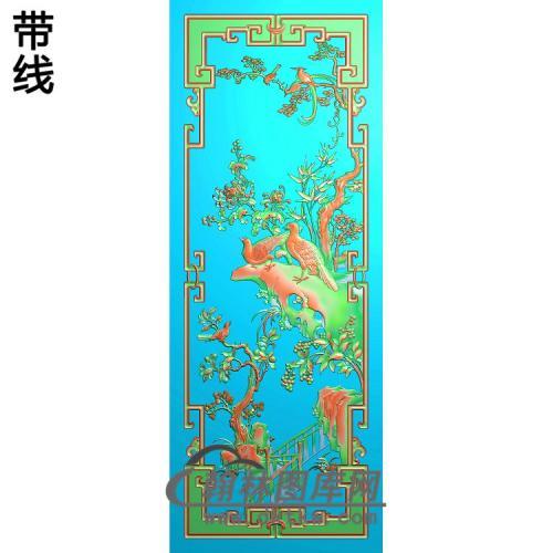 花鸟顶箱柜菊花(JH-250)