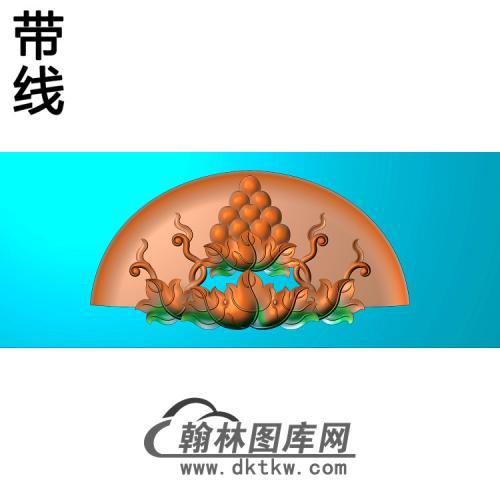 葡萄椅脑精雕图(PT-030)