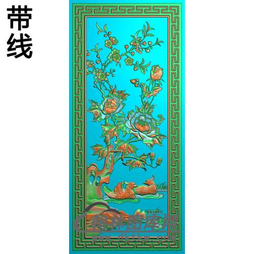 271花和鹅精雕图(ZHN-003)