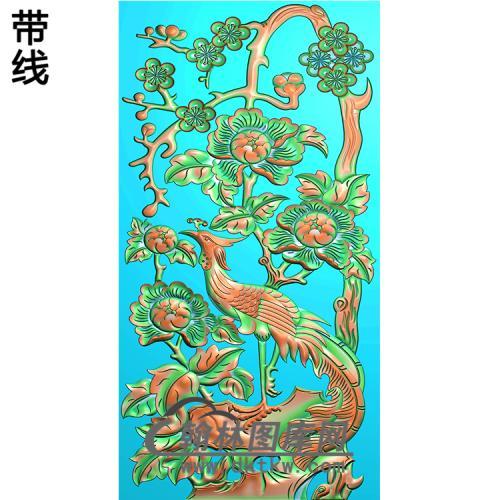 HD-092-花草动物系列精雕图(ZHN-048)