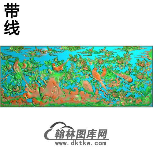 极品百鸟朝凤挂屏大图精雕图(ZHN-199)