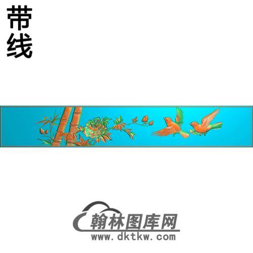 锦绣前程顶箱柜下横板1精雕图(ZHN-200)