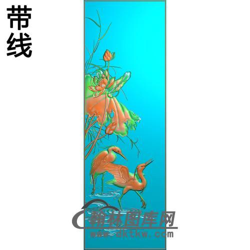 锦绣前程下门板1精雕图(ZHN-201)