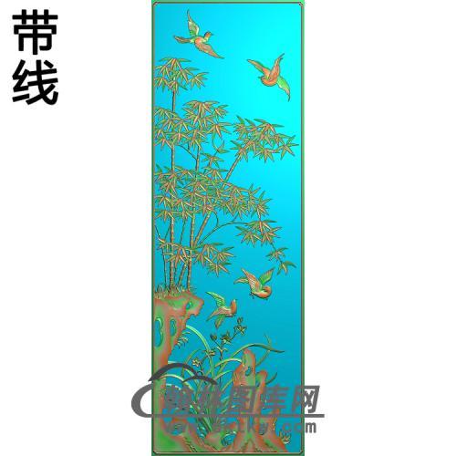 兰竹精雕图(ZHN-202)