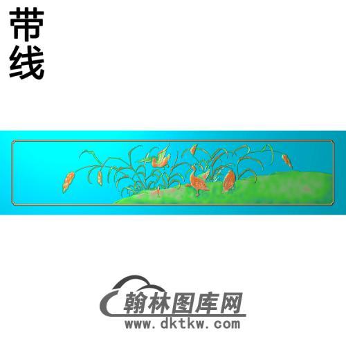 荣华富贵顶箱柜下肚板鸭精雕图(ZHN-205)