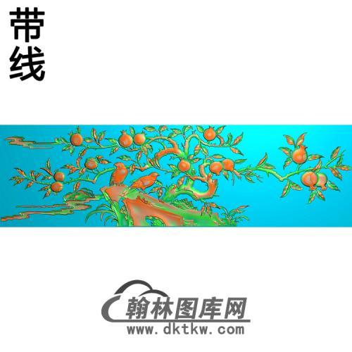 石榴仓板精雕图(ZHN-208)