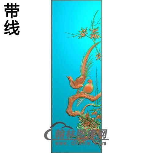 下门板3精雕图(ZHN-214)