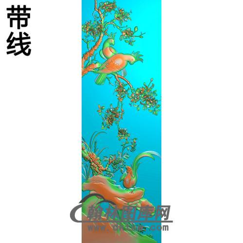 鹦鹉大门精雕图(ZHN-215)
