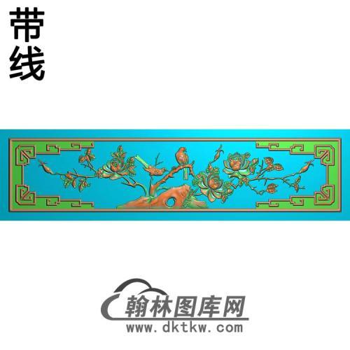锦隆月季精雕图(YG-008)