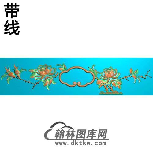 镜框2月季 (2)精雕图(YG-009)