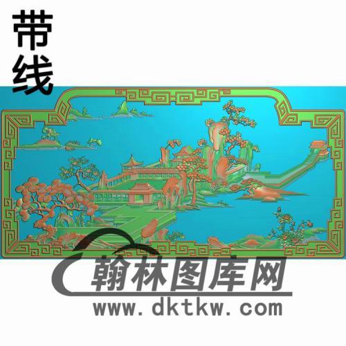 CTBB-155-精品海棠莺背板图精雕图(CTBB-010)