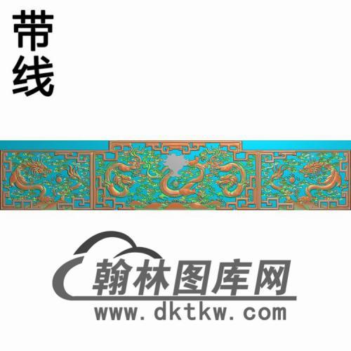 CTBB-1066-清明上河图大床精雕图(CTBB-014)