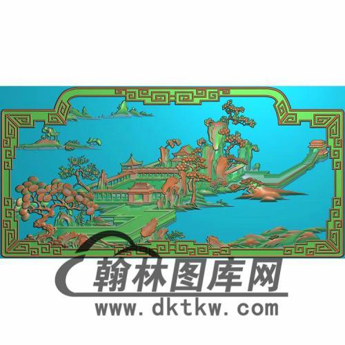 HN-2211花鸟山水牡丹精雕图(CTBB-021)