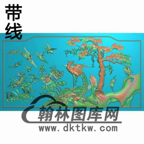 HN-2239鸳鸯花鸟有线精雕图(CTBB-024)