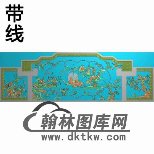 HN-2259贵妃床有线精雕图(CTBB-025)