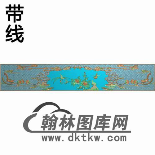 八宝床头精雕图(CTBB-032)