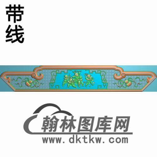 八宝椅背板精雕图(CTBB-033)