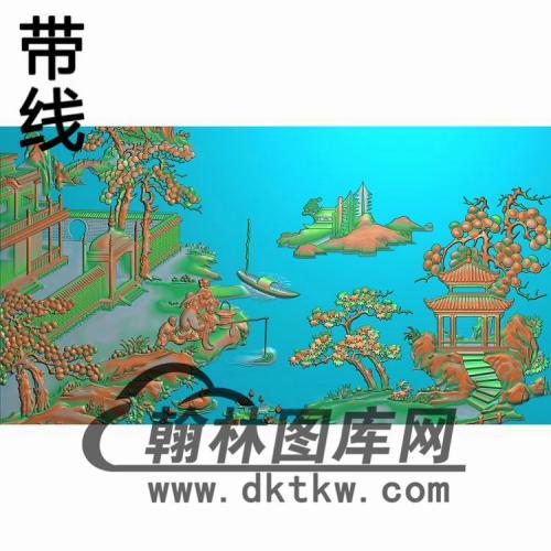 大开门床-帽子精雕图(CTBB-036)