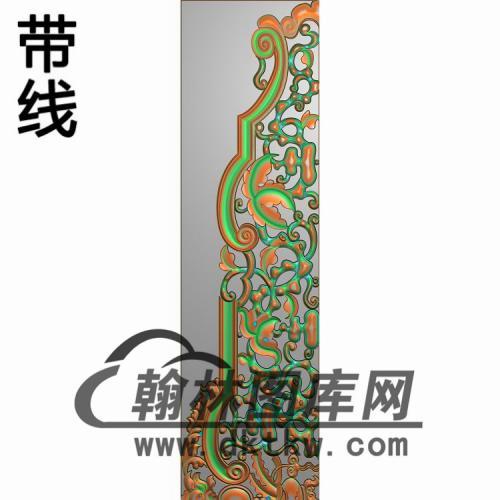 精品花鸟床背板图两个精雕图(CTBB-037)