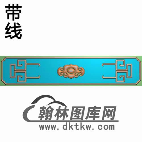 扶手如意和围板如意精雕图(FS-088)