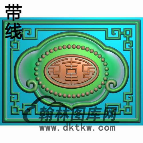 福禄寿扶手2精雕图(FS-096)