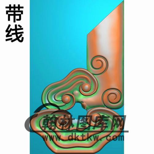 灵芝扶手合改 (2)精雕图(FS-101)