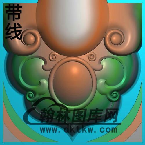 如意扶手后方(11年十一月十九号)精雕图(FS-105)