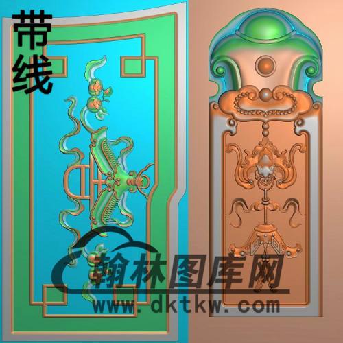 太兴(小如意)扶手、扶手花与边柱精雕图(FS-109)