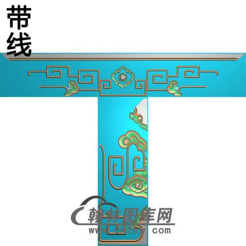 八宝沙发脚精雕图(HJ-038)