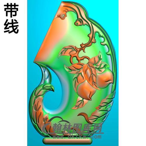 福边桃弯精雕图(HJ-040)