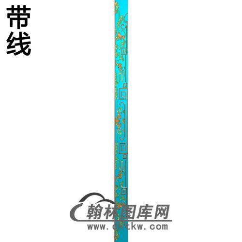 龙凤床蝙蝠牙料脚一对精雕图(HJ-045)