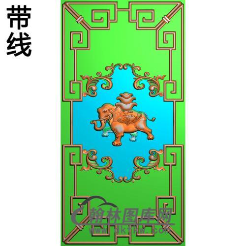 DX-452-大象背板王精雕图(SFBB-005)