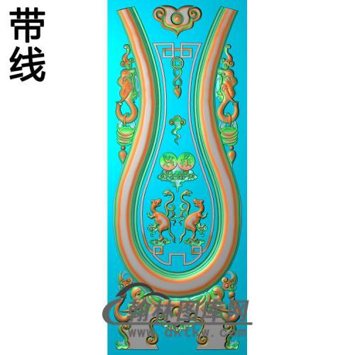 DX-6002泰象背板精雕图(SFBB-008)