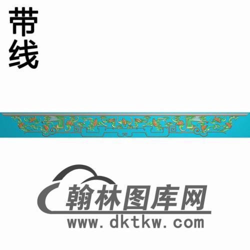 TJYB-1323-百福罗汉床牙料精雕图(YB-122)