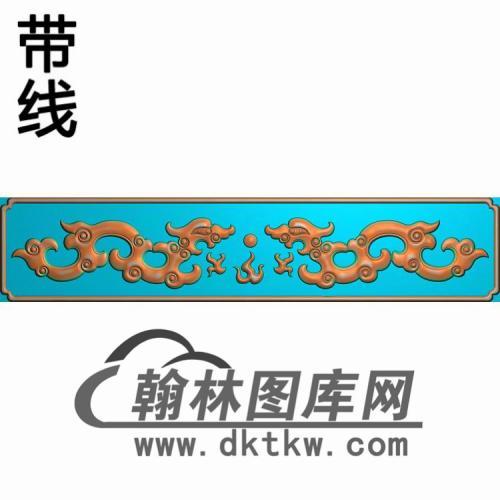 TJYB-1343-百鸟罗汉床小牙板短精雕图(YB-130)