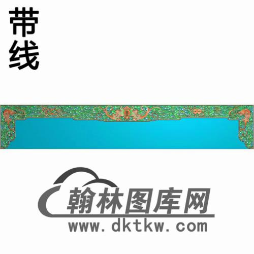 TJYB-1345-大如意大茶几下牙板精雕图(YB-131)