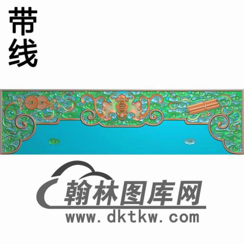 TJYB-1350-大如意沙发侧牙板画精雕图(YB-133)