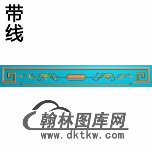 TJYB-2024花鸟沙发裙板 3精雕图(YB-141)