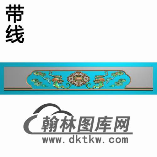 TJYB-2024花鸟沙发裙板精雕图(YB-139)