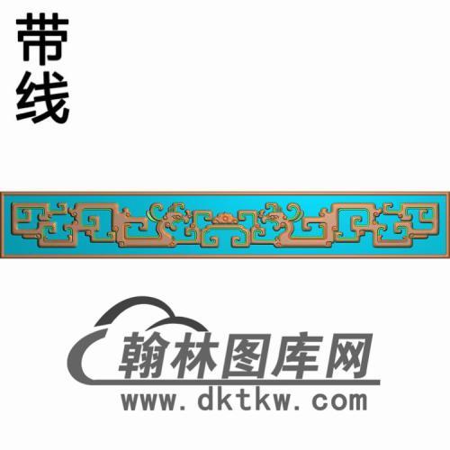 YX--6007钩子方茶几牙板1线精雕图(YB-149)