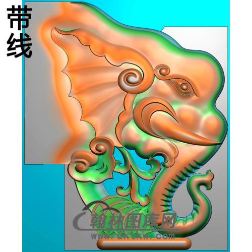 YN-709-大象桃子脑椅精雕图(YN-045)