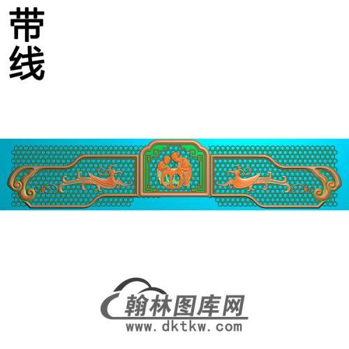 YN-711-汉宫椅脑精雕图(YN-047)