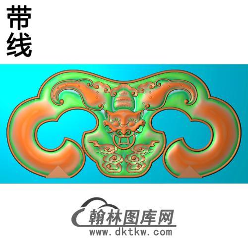 YN-2003宝座靠背后脑精雕图(YN-049)