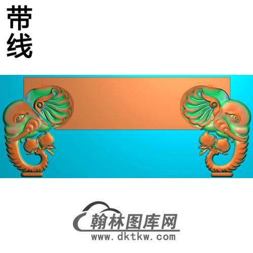 福禄寿餐椅大象椅脑精雕图(YN-058)