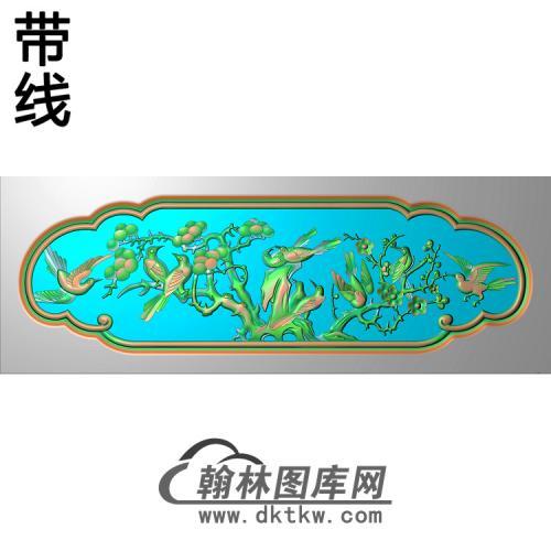 花鸟椅脑精雕图(YN-063)